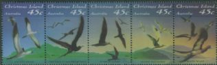 CHI SG372a Seabirds strip of 5